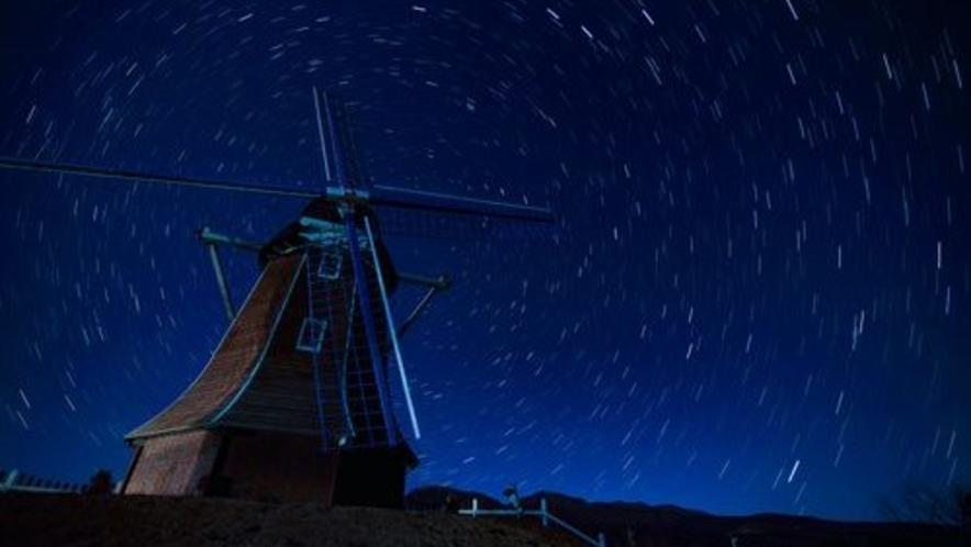 ■大胡ぐりーんふらわー牧場 夜空(写真提供:前橋観光協会)