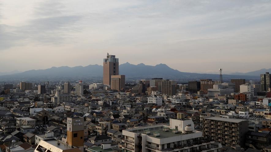 【女子】露天風呂からの景色