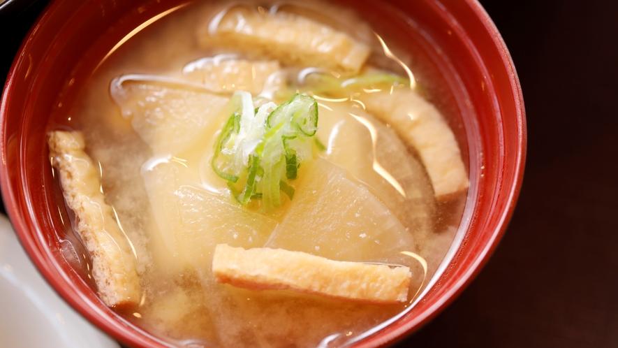 季節の味噌汁 【2Fレストラン朝食♦6:30~9:30(LO9:00)】
