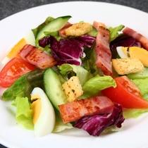 【食事】夕食の一例。季節の自家栽培野菜をたっぷり使った洋食の創作ディナーコース。