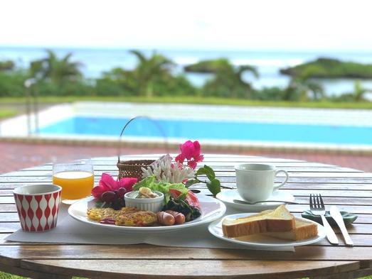 【島の食材中心】★オーシャンビュー★和室★1部屋限定★2食付き★ビーチまで30秒★広々ウッドデッキ