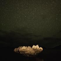 星砂の浜の上の星空