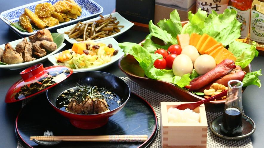 自家製野菜をふんだんに使った「このはな」特製のお夕食で富士山のエネルギーを食べに来ませんか?
