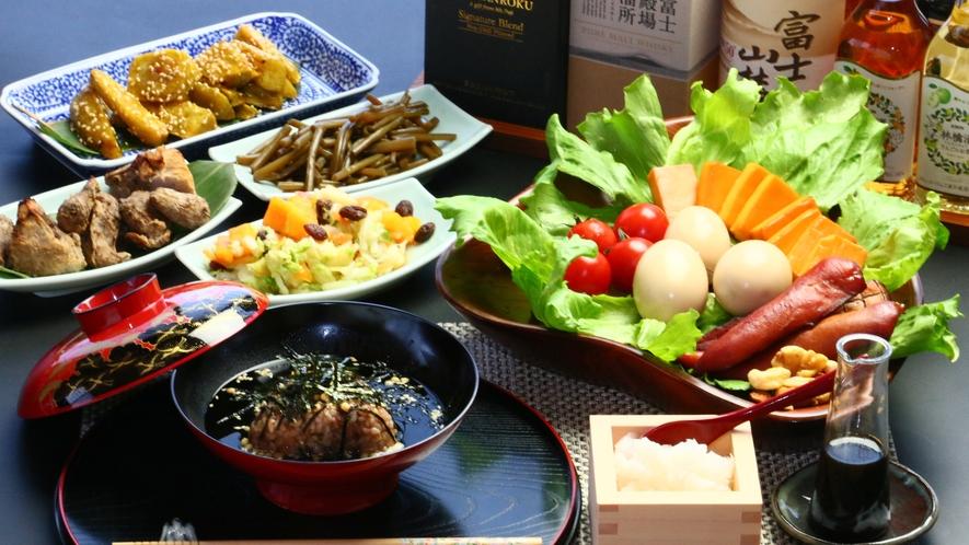 富士山のエネルギーがい~っぱい詰まった特製のお夕食になります★