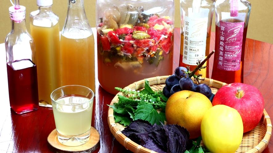 畑で獲れた野菜や果物で酵素ジュース作り♪