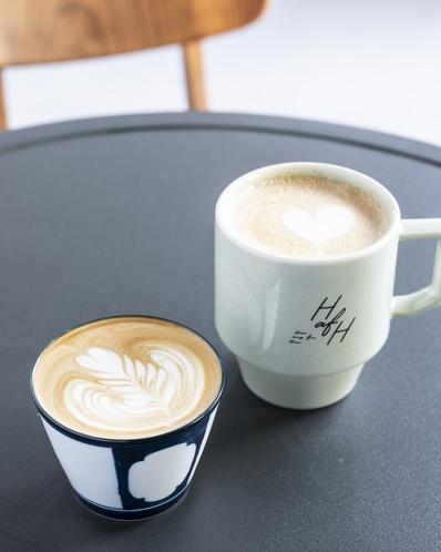 1Fカフェ HafHラテ