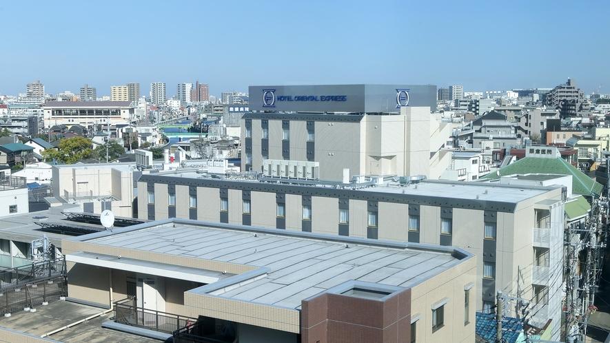 外観(上空)京急蒲田駅側より