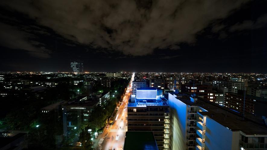高層階からの夜の景観(北側)