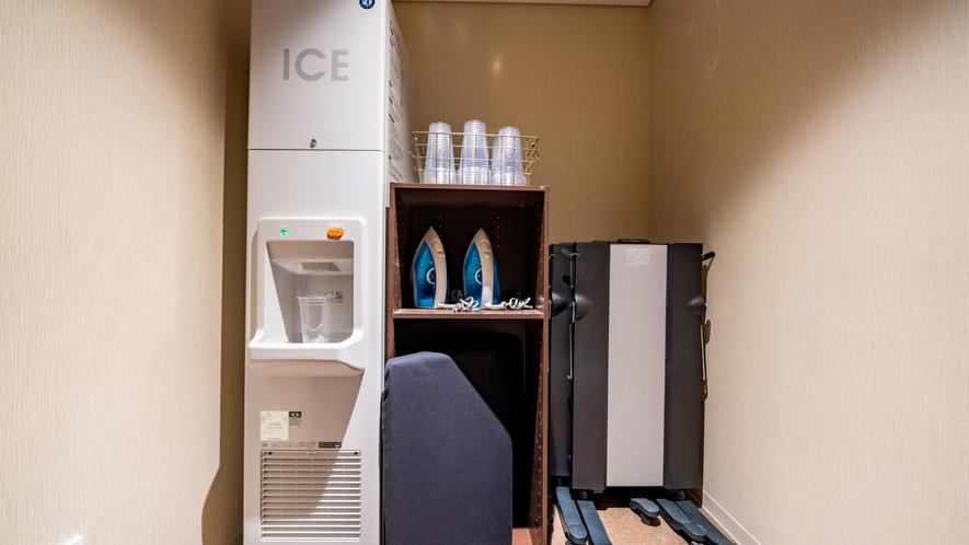 製氷機・レンタル備品(アイロン・アイロン台・ズボンプレッサー)は各客室階に完備