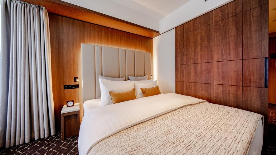 プレミアダブルのベッドサイズは横幅182㎝のキングベッド!