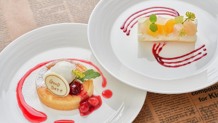 【ライブキッチン】パンケーキやフルーツサンドなど、見た目もかわいい自家製デザート♪
