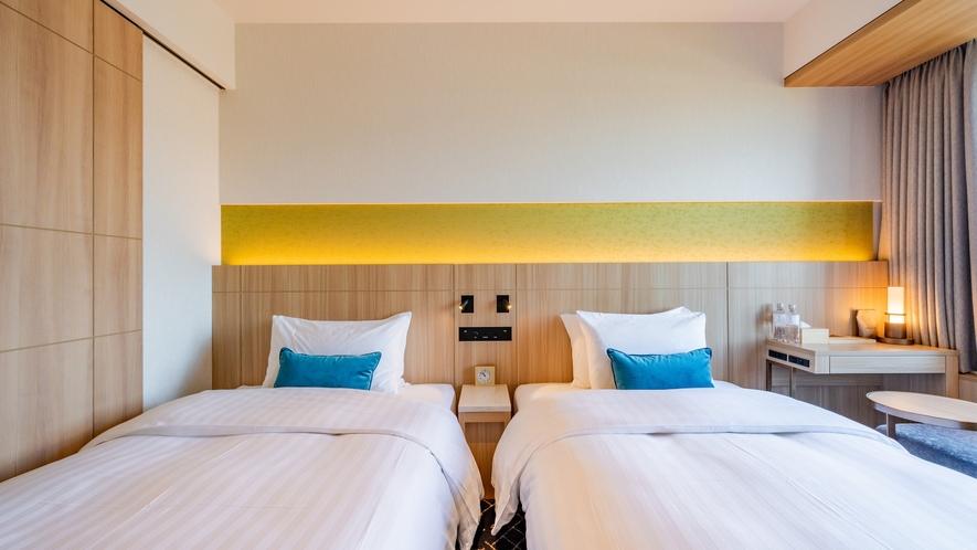 コンフォートツインのベッドサイズは横幅122㎝が2台!