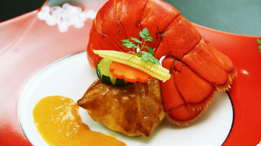 ◆お料理一例◆冬のぜい沢膳◆オマール海老のパイ包み