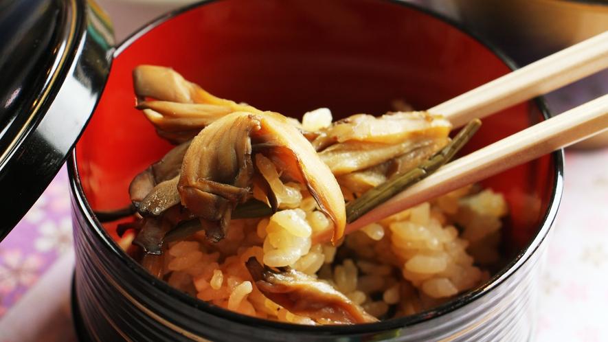 ◆お料理一例◆香り豊かな炊き込みご飯。口に入れた瞬間旨味が広がります。