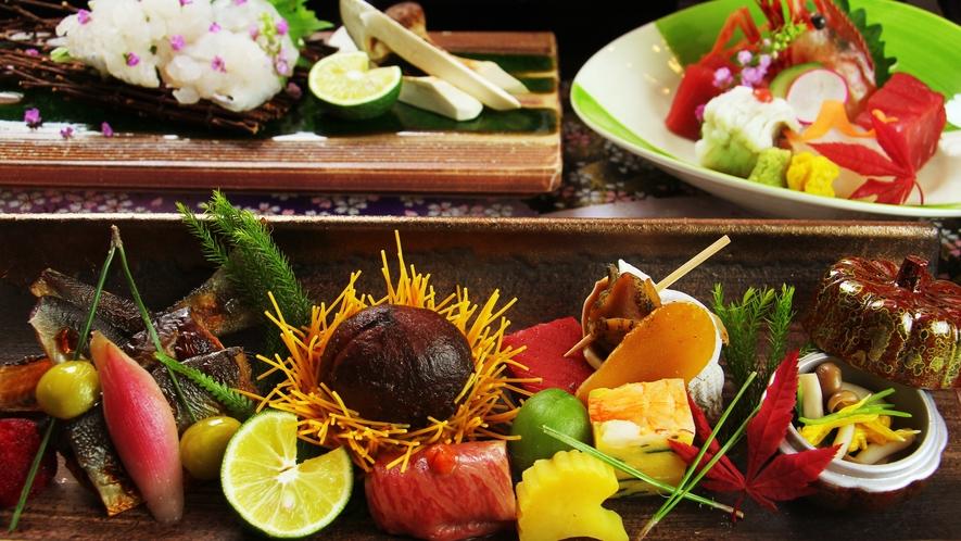 ◆お料理一例◆出来る限り地元の旬の食材をご提供しております。