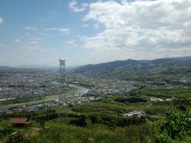 町石道展望台付近から見た風景