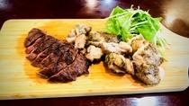 夕食BBQステーキプレート(カンガルー・チキン)