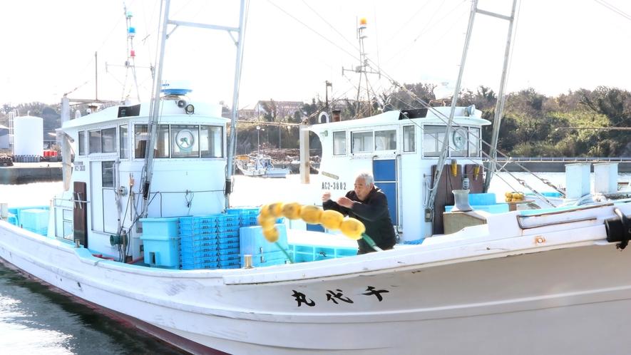 漁師歴60年の旦那!漁船の扱いもお手の物♪