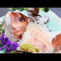 大迫力の鯛の姿盛り!直前に捌くから新鮮そのもの☆