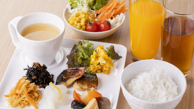 【朝食付】パン・コーヒーではなくしっかりご飯と味噌汁を食べたい。そんな皆さまへ姉妹店の朝食をご提供。