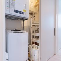 【1ベッドルーム】洗濯機や掃除用具もご用意
