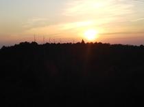 窓からの朝の風景