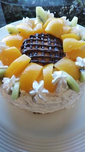 夏の記念日のケーキ