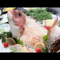 鯛の姿造り*素材の良さが自慢!鯛の食感と味わいを堪能できます☆
