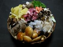 お食事一例(きのこ鍋)