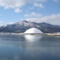 釜臥山・むつ湾(冬)