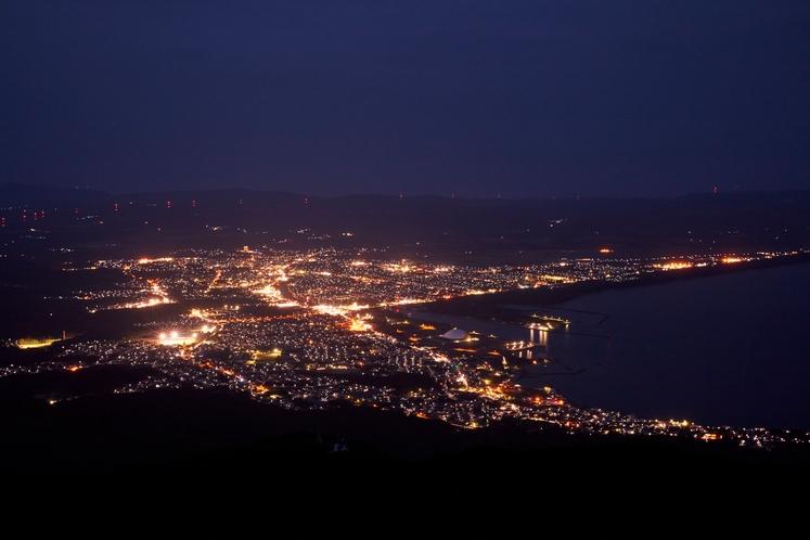 釡臥山 展望台夜景