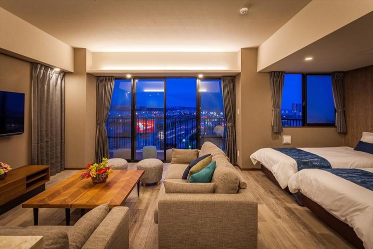 リビングルーム(夕方から夜への雰囲気)