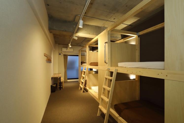 個室(6名定員・共用バスルーム&トイレ)