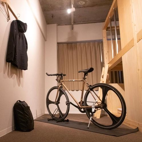一部客室は客室内に自転車を入れることができます。