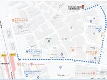 下新庄駅から徒歩3~4分のアクセス