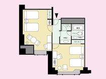 【禁煙】スーペリアフォース 寝室が二つの洋室