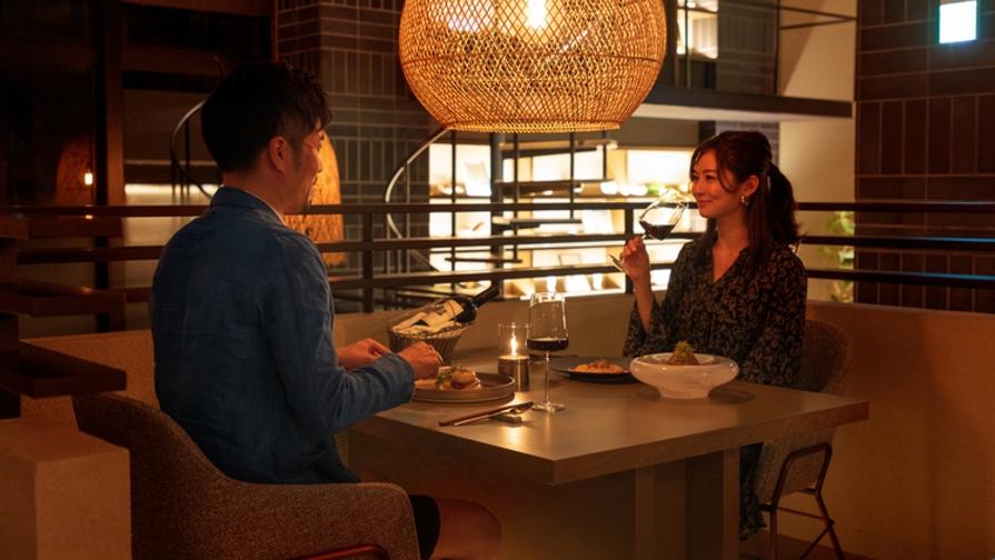 【2周年記念プランVol.3】食事もお酒も愉しむ、ペアリング付きディナープラン<2食付き>