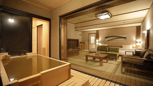 特別室-花しずく【天然温泉】◇65平米(和ベッド4台)