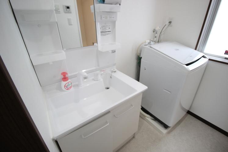 洗面所、洗濯機