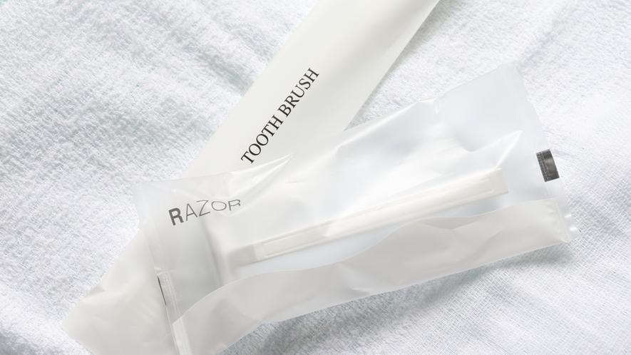 【アメニティ】歯ブラシ、レイザー