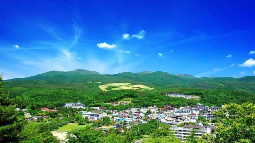 【岳温泉】ほんとうの空の下にある豊かな温泉地「岳温泉」