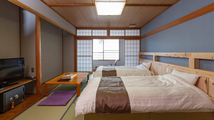 【スタンダードベッド/STANDARD BEDROOM】畳にベッドを設置