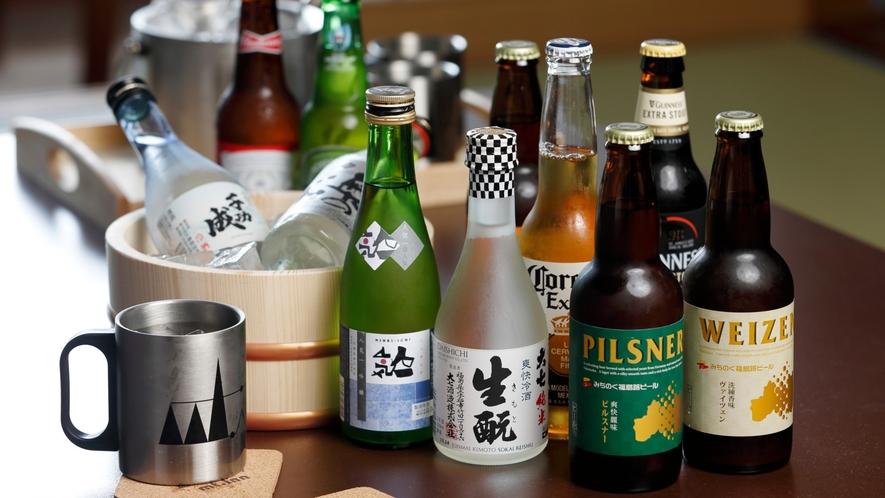 【お飲み物】福島の地酒やインポートビールなどもご用意しています