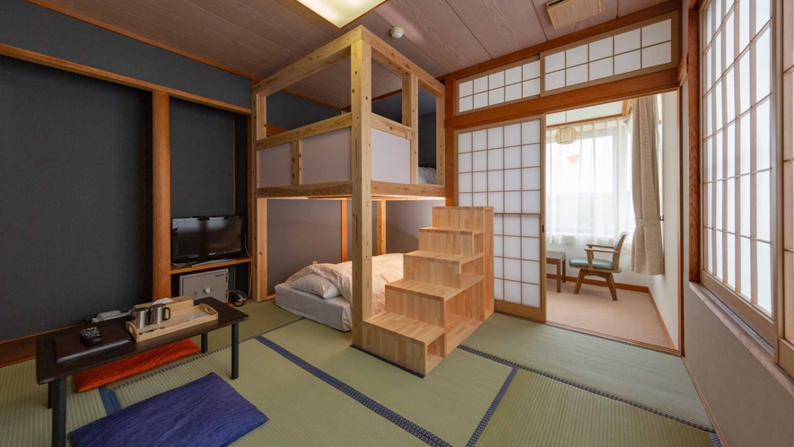 【LOFT/山小屋風和室 2段ベッド】ちょっと意外な和室のお部屋。3部屋共に間取りが異なります。