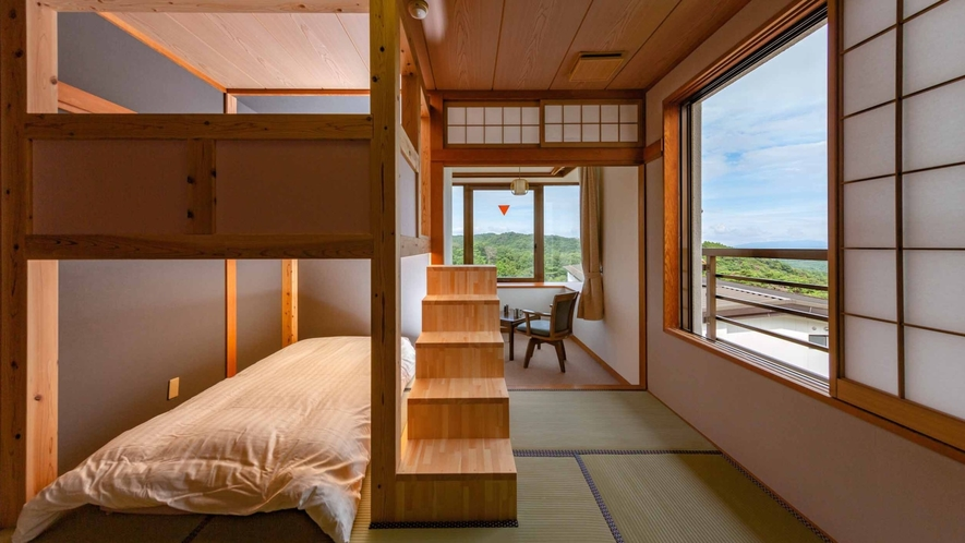 【LOFT/山小屋風和室 2段ベッド】3部屋共に間取りが異なります