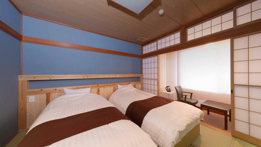 【エコノミーベッド/ECONOMY BEDROOM】畳にベッドを設置