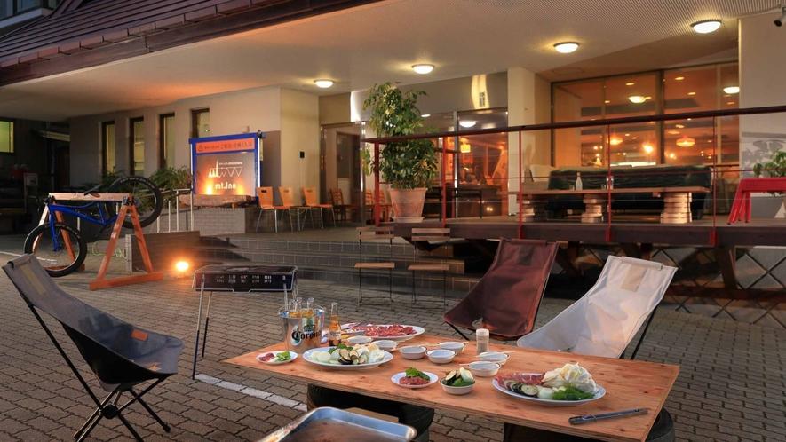 【BBQ】温泉旅館でBBQって… なかなかいい感じ♪