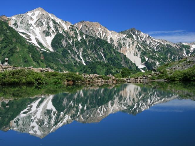 夏の山で深呼吸すれば、日ごろの喧騒を忘れます。