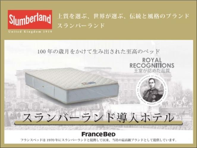 【ベッド】理想の眠りを実現できるフランスベッド社製の「スランバーベッド」を採用しました。