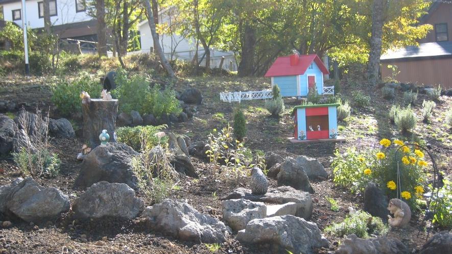 庭の草花とロックガーデン